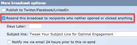 An automatically scheduled resend